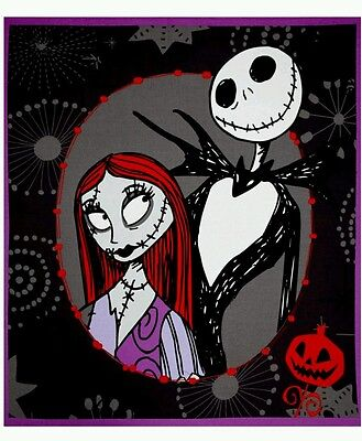 Nightmare Before Christmas Quilt Panel * New * In Stock * Free Post *