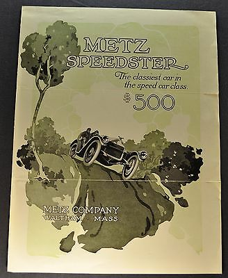 1914 Metz 22 Speedster Sales Brochure Folder Original 14
