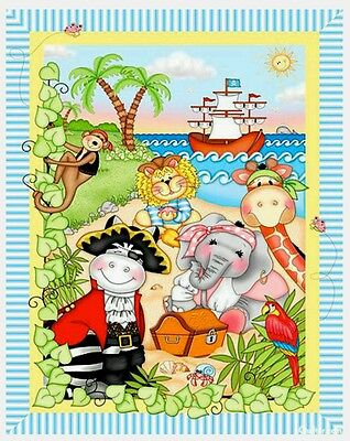 Bazooples Pirates * Ahoy Matey Quilt Panel * In Stock * Free Post *