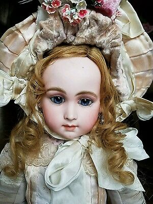 """GORGEOUS ANTIQUE FRENCH MYSTERY BEBE DOLL Marked 5, 25 """" w/restoration"""