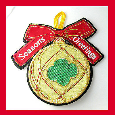 NEW Girl Scout HOLIDAY ORNAMENT, Christmas BULB 2-Sided, GIFT Multi=1 Ship Chrg