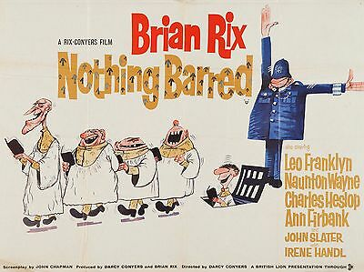 """Nothing Barred 16"""" x 12"""" Reproduction Movie Poster Photograph"""