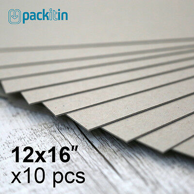 """12x16"""" Backing Boards - 10 sheets 700gsm - chipboard boxboard cardboard recycled"""