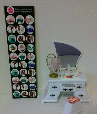 Barbie Doll Furniture Fashion Fever Room Vanity Set w/ Beaded Lamp & Acc NEW