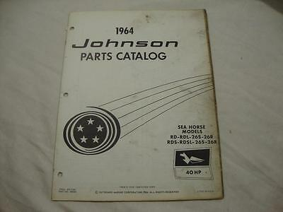 Johnson outboard parts catalog manual 1964 Sea Horse 40 HP RD RDS 26S 26R 380049