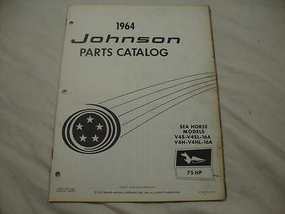 Johnson outboard parts catalog manual 1964 Sea Horse 75 HP V4S V4H 16A 380052