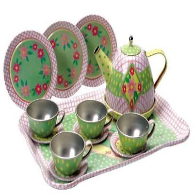 Childrens Tin Tea Set Play Toy Schylling New