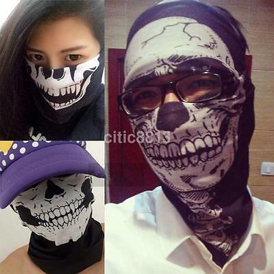 Skull Tube Scarf Bandana Headband Face Mask Neck Gaiter Snood Headwear Beanie AU