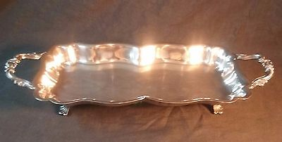 Vintage FB Rogers Silver Company Silverplate Footed Serving/ Bread Tray