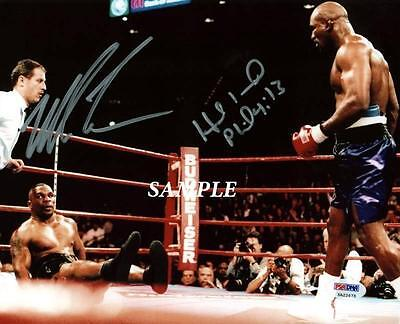 Mike Tyson Evander Holyfield #1 Reprint Autographed Signed Picture Photo Boxing
