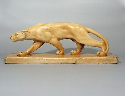 """Authentic Vintage French Art Deco Panther Statue, Signed """"Melani"""", Numbered"""