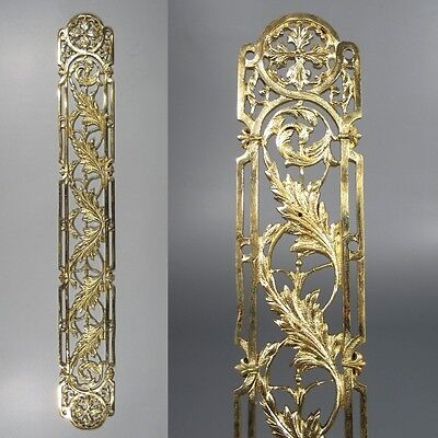 Antique French Gilded Bronze Door Back Plate, 20 3/8 inches, Chateau Style
