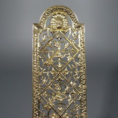 Antique French Gilded Bronze Door Back Plate Chateau Style: One Piece
