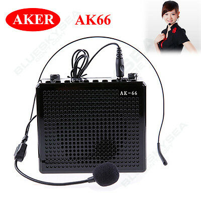 Aker AK66 Waistband Voice Amplifier Booster With Headset Microphone For Teacher