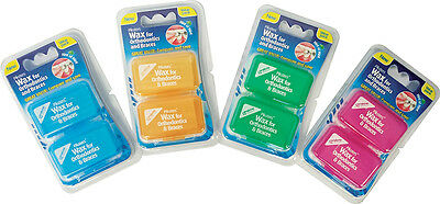 GENUINE Piksters Wax for Orthodontics & Braces (Assorted Colours)