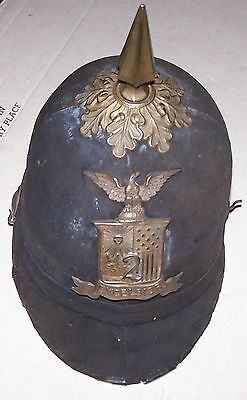 New York National Guard 2Nd Regiment Spiked Pith Helmet 1880-1902