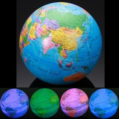 LED MAGIC REVOLVING GLOBE Educational Toys High Spinning World Globe Map Earth