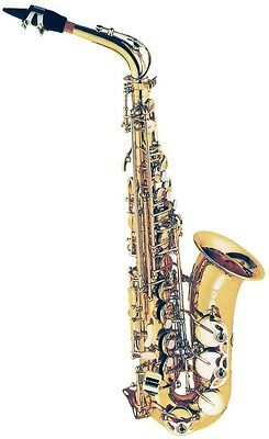 FONTAINE FBW309 E Flat Alto Saxophone with ABS Case Lacquered Yellow Brass
