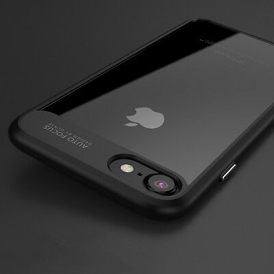 Shockproof Hybrid Slim Clear Back Protective Case Cover for Apple iPhone 7 Plus