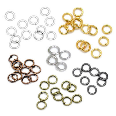 New Metal Open Jump Rings Connector Round Findings Jewelry Making 4-20mm DIY