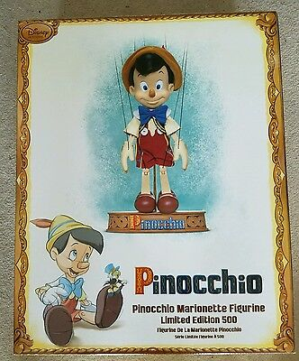 Disney Store Pinocchio Marionette Figurine Puppet Doll Limited Edition 1 of 500