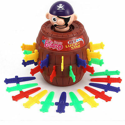 Gadget Joke Tricky Pirate Barrel Board Game Pop Up Party Family Toy Kids Gift