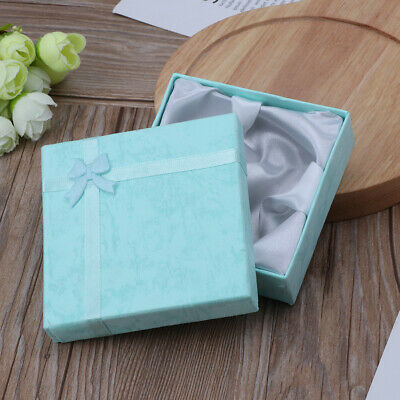Paper Square Package Bowknot Jewelry Necklace Bracelet Present Gift Box Case 1PC