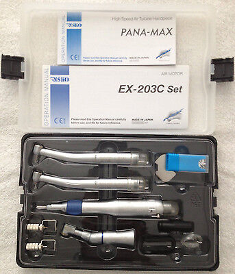 Dental Low + High Speed Oral Kit (EX203C+2 PANA MAX) 2H Wrench Type Handpieces