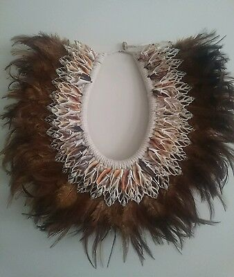 Feather & Shell Beach Tribal Necklace Hamptons Wall Hanging Decor
