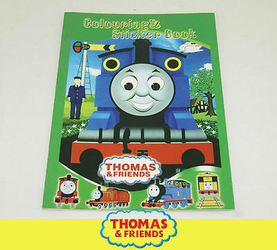 Thomas the Tank Engine KID SCHOOL WRITE COLORING COLOURING STICKER BOOK SY04a