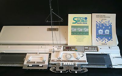 Brother electronic knitting machine kh 940 electroknit serviced prestine white