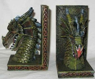 Dragon Book Ends Polyresin Pair Mythical