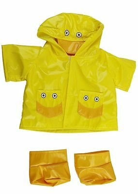 """Yellow Duck Raincoat & Soft Boots Teddy Clothes Fits 15""""-16"""" (40Cm) Build A Bear"""