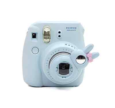 New Fujifilm Instax Mini 8 Selfie Lens Rabbit Bunny Style Close Up, Mirror, BLUE