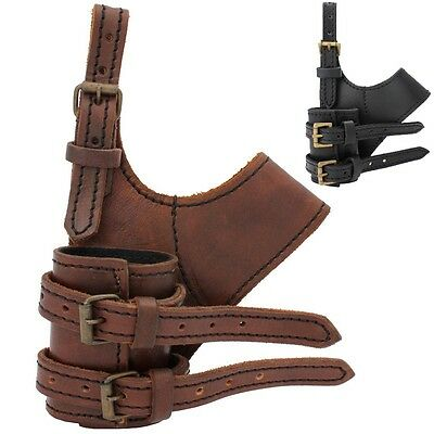 Quality Leather Adventurer Sword Holder For Stage Costume Or LARP Black & Brown