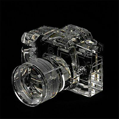 Canon EOS7D Crystal Camera Photo Replica Zoom Lens Paper Weight Book Shelf Hand