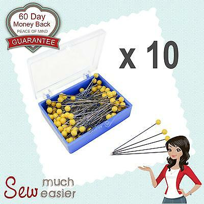 Quilting Patchwork Sewing Applique Pins x 1000 Dressmaking Straight Pin 10 boxes