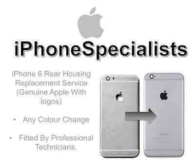 Apple iPhone 6 HOUSING Replacement, Service, Colour Change (GENUINE WITH LOGO)