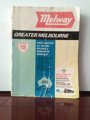 Melway street directory, 18th edition, 1988