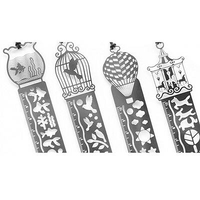 Delicate Stainless Steel Hollow Bookmark As Ruler And DIY Drawing Book Marks BY