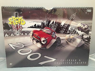 BNIP Sealed New SPEED FREAKS 2007 Calendar / Collector Prints Country Artists
