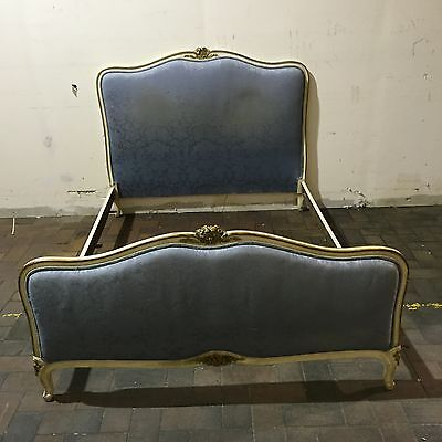 vintage french double bed beautifully aged chic Country Living