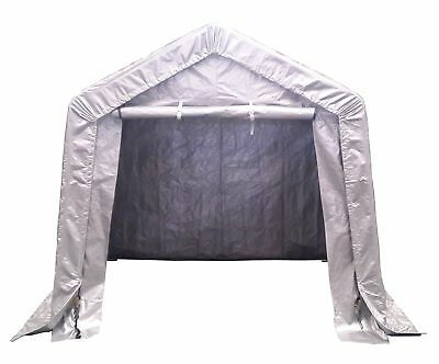 FoxHunter Waterproof Motor Bike Cover Storage Shed Tent Garage Galvanized 2.44M