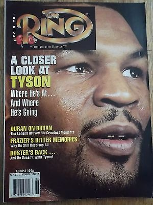 The Ring Boxing Magazine~August 1996~Mike Tyson Cover