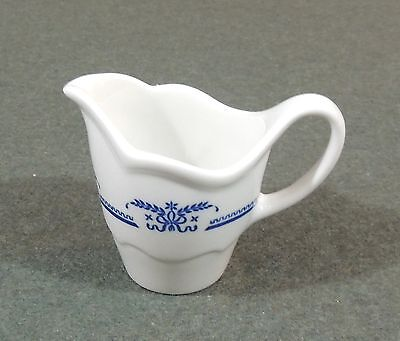 Shenango China Restaurant Ware Creamer Pitcher Blue & White EUC