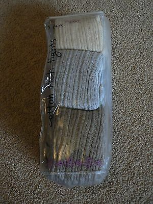 BNWT pack of 3 pairs of tights from NEXT - cream, grey & light brown. Age 9 - 10