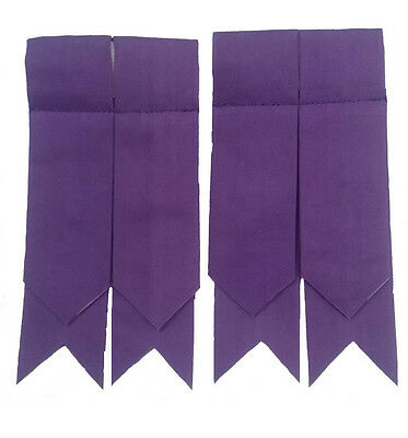New Mens Kilt Hose Flashes Purple Color/Highland Purple Kilt Hose Socks Flashes