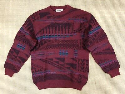 Jumper 80s 90s oversize L unisex cosby abstract geometrical crazy  (EJ234)