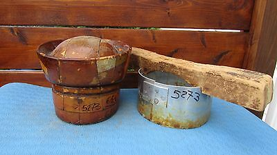 """GREAT Wood Wooden Hat Block Form Mold Millinery Puzzle 5 PIECES Size 23"""" #173"""