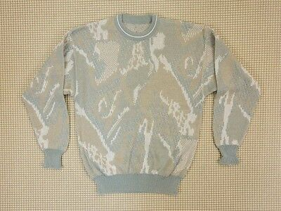 Jumper sweater 80s 90s oversize M unisex cosby abstract geometrical  (EJ381)